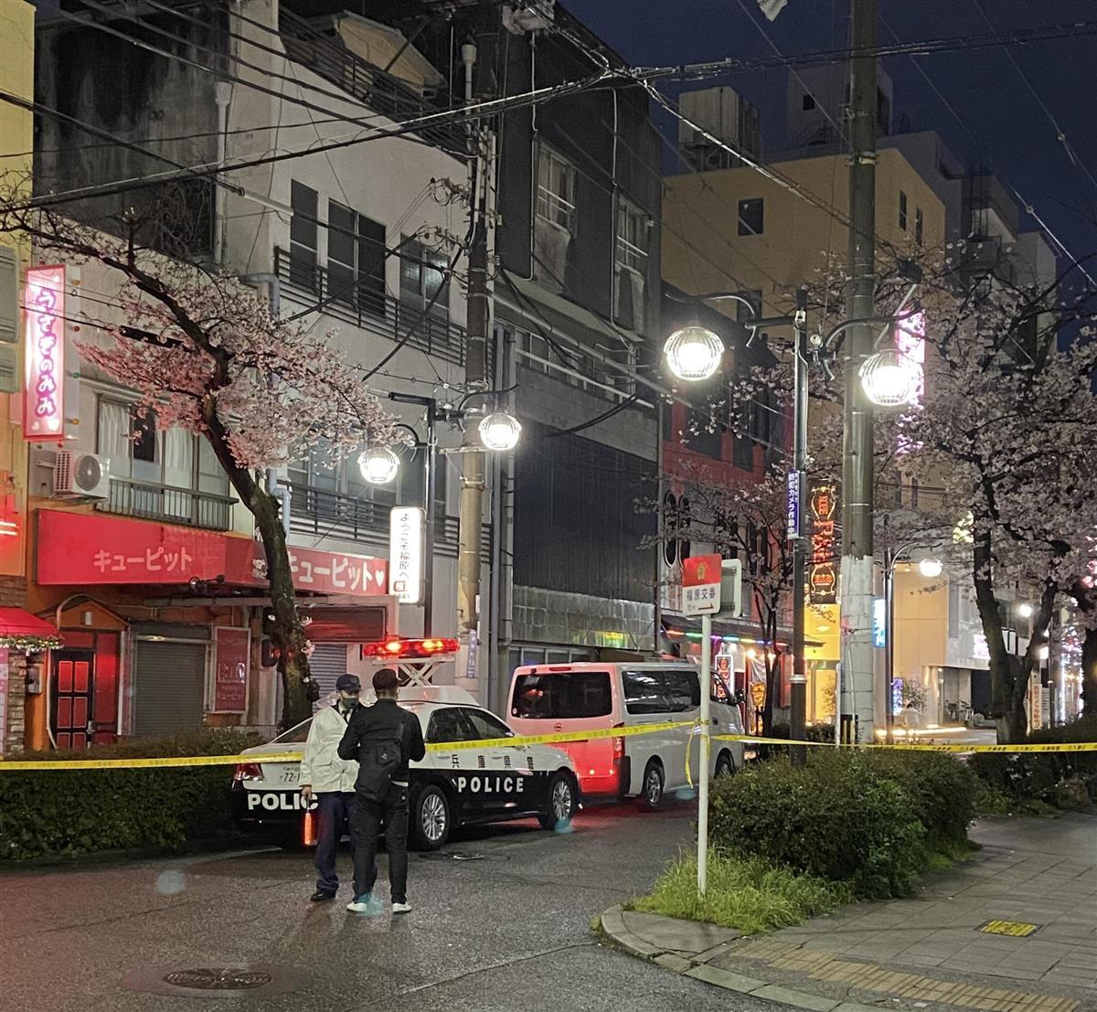 大きな音が4回」神戸で発砲事件か 建物に複数の痕 - 産経ニュース