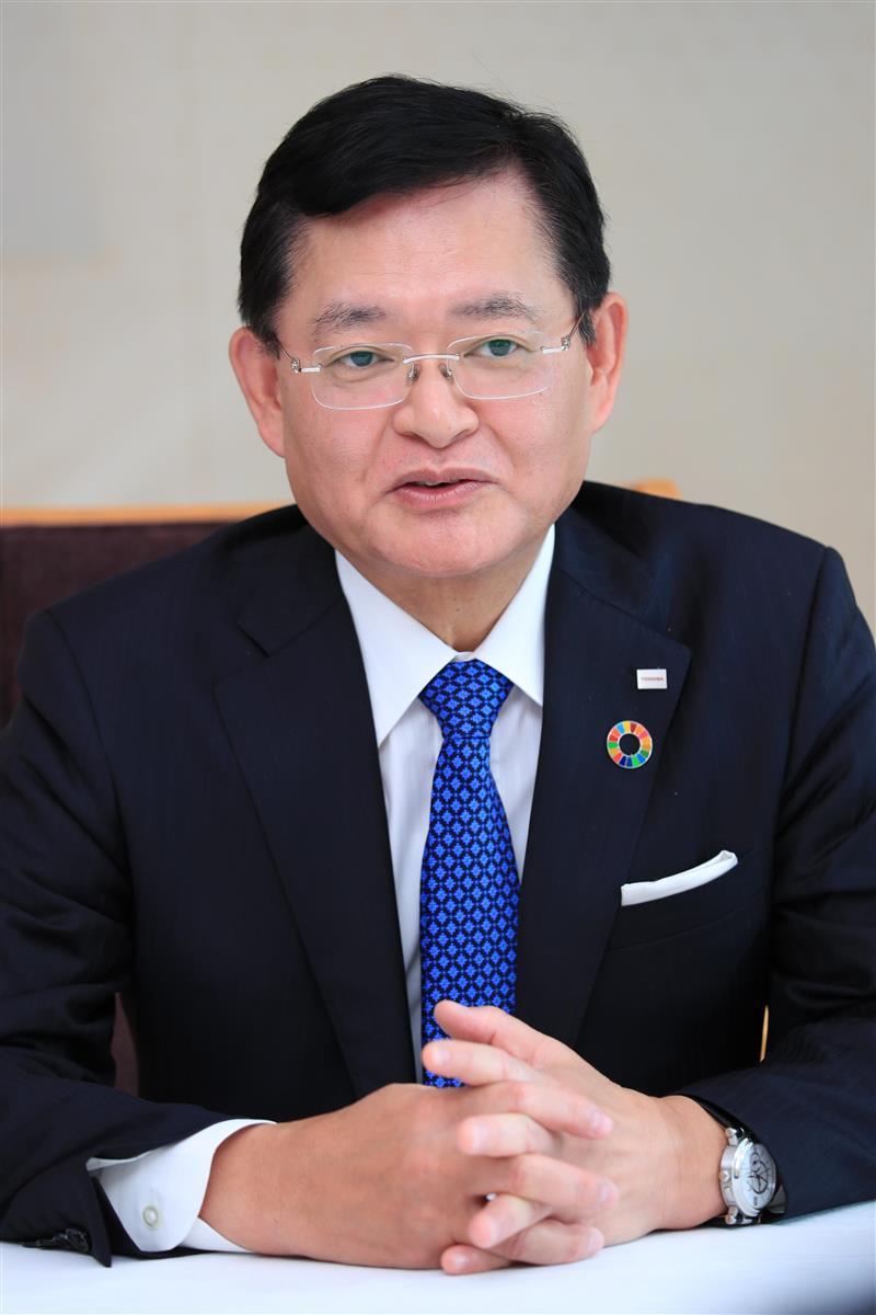 東芝の車谷暢昭社長兼最高経営責任者