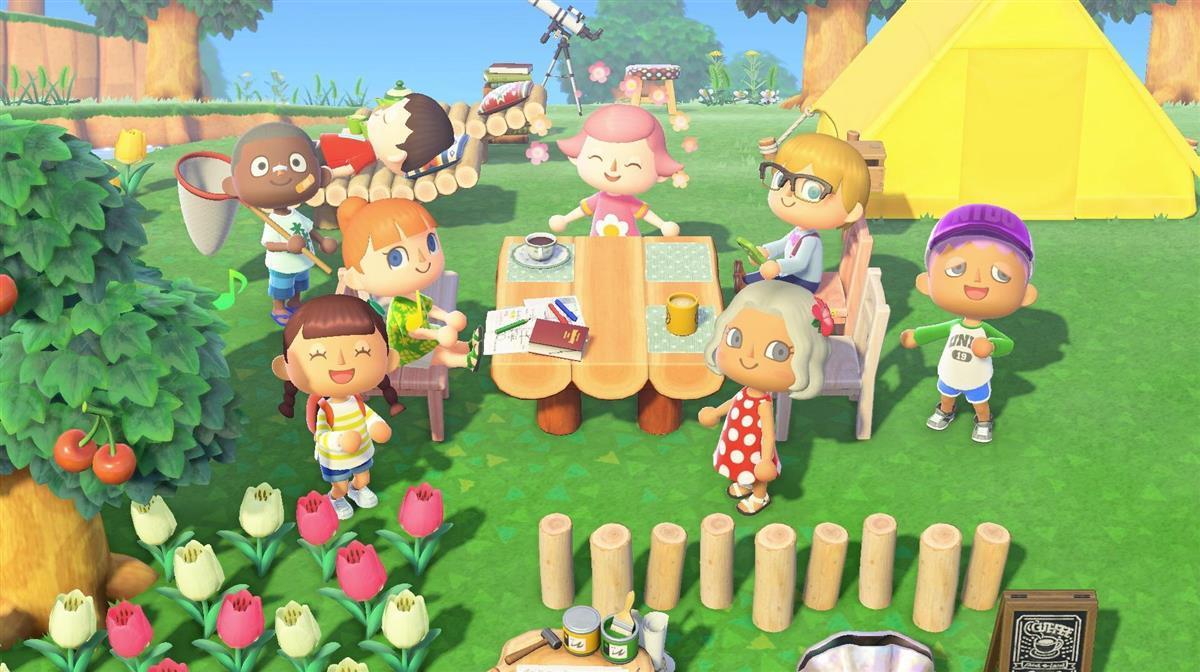 世界的にヒットしているニンテンドースイッチ用ゲーム「あつまれ どうぶつの森」の画面(c)2020 Nintendo