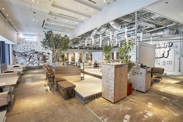 三井不動産が運営するシェアオフィス「ワークスタイリング」の内部