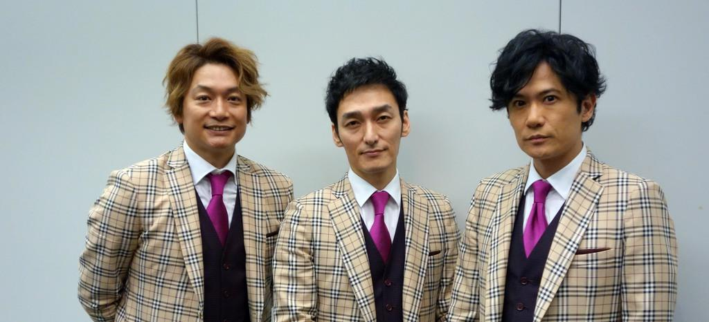 元SMAPの(左から)香取慎吾さん、草●(=弓へんに剪)剛さん、稲垣吾郎さん