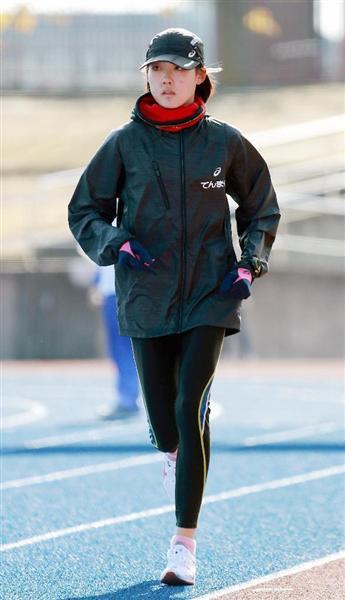 大阪国際女子マラソンに「ネクストヒロイン枠」で出場する前田穂南選手(宮沢宗士郎撮影)