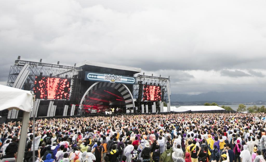 昨年は2日間で約9万5千人を集めたイナズマロックフェス=滋賀県草津市((C)イナズマロックフェス2019実行委員会)