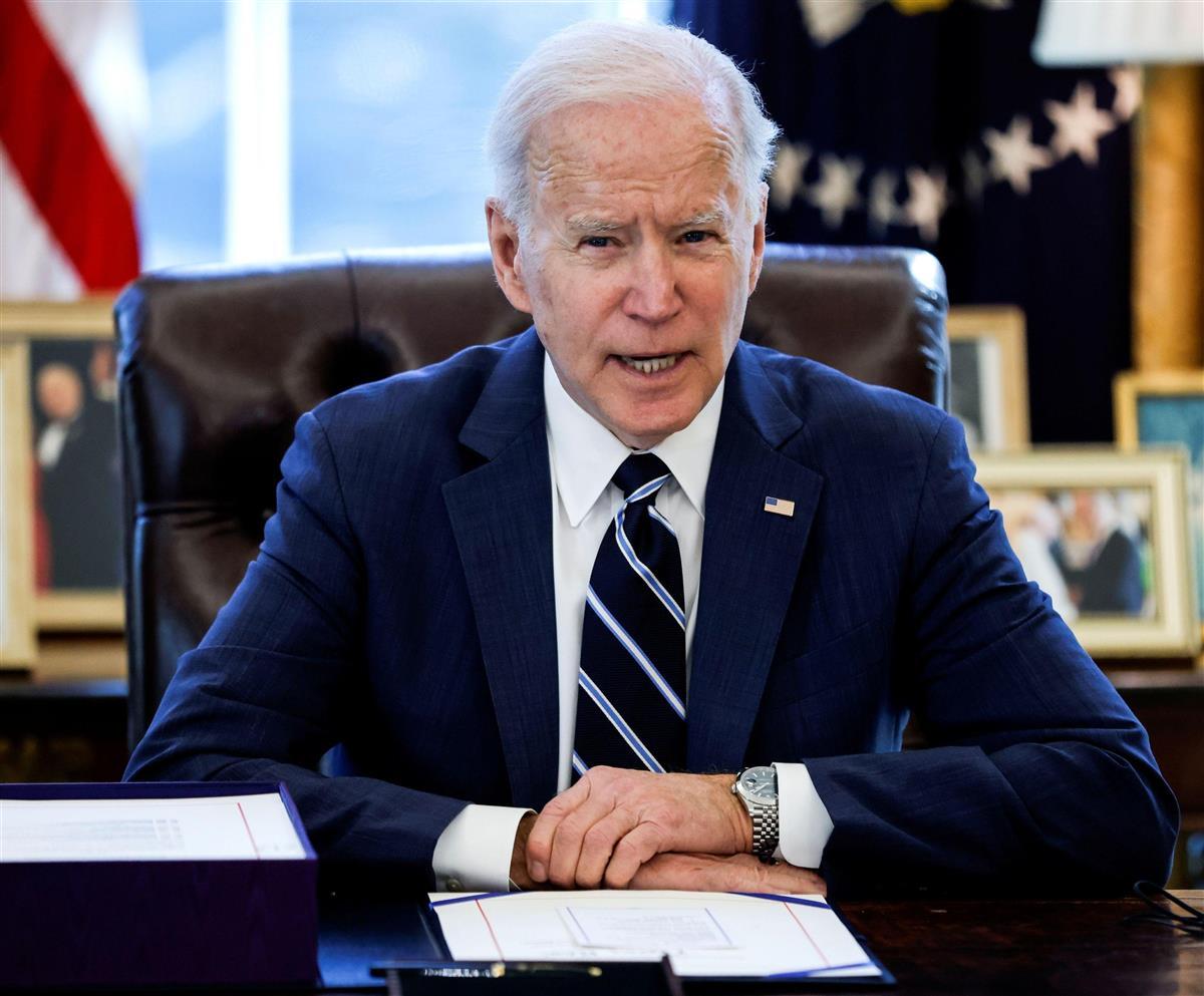 バイデン米大統領=11日、ホワイトハウス(ロイター)