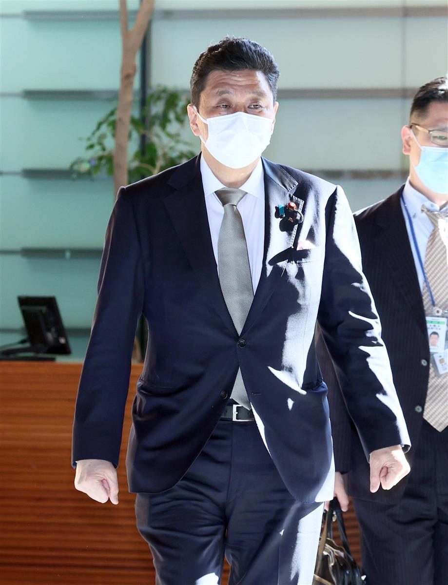 岸信夫防衛相=23日午前、首相官邸(春名中撮影)