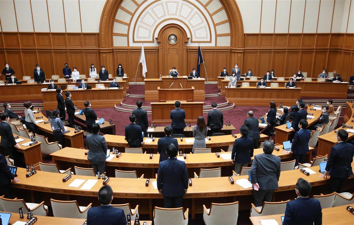 府市一元化条例案が可決された大阪市議会=26日午後(鳥越瑞絵撮影)