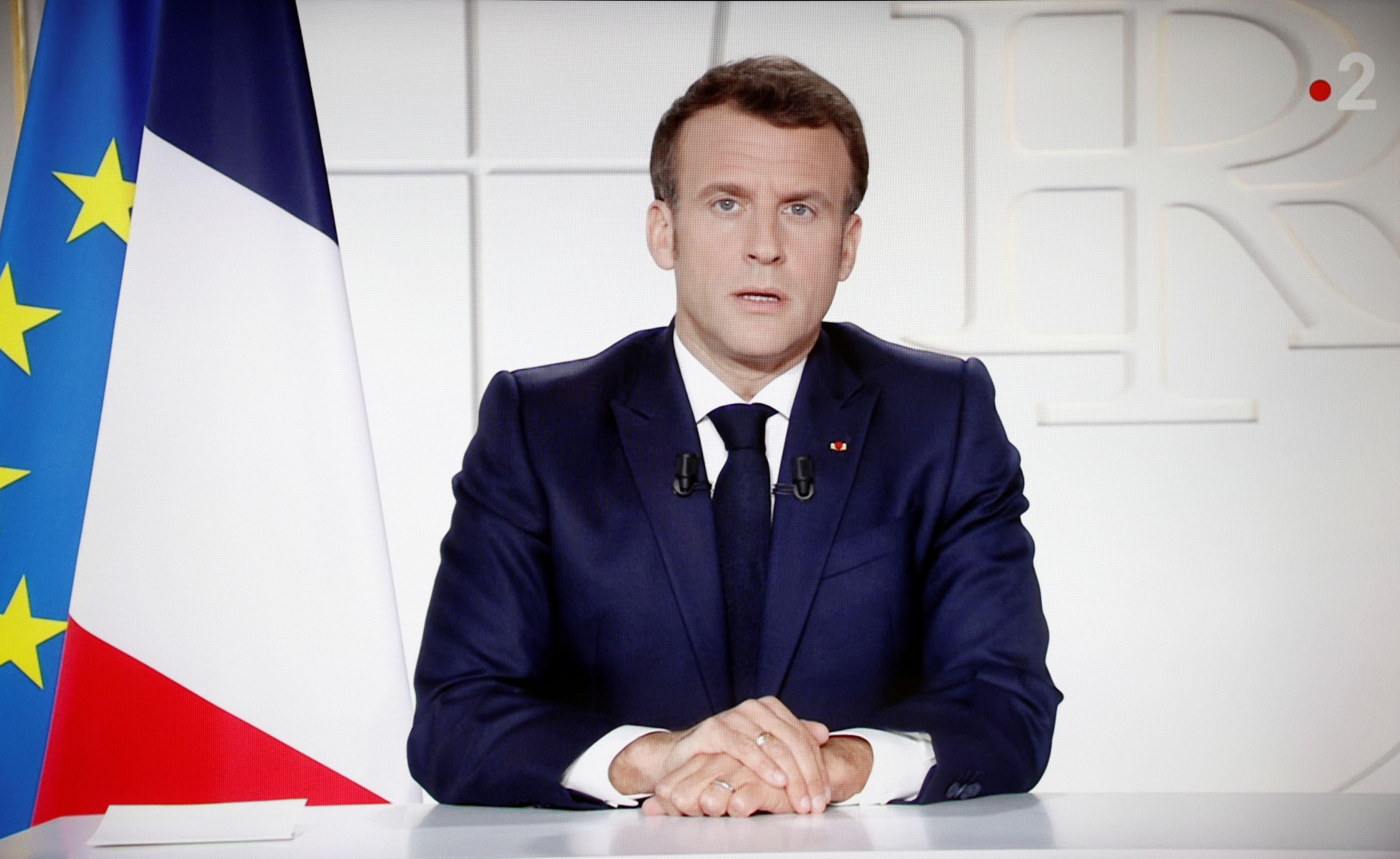 フランスのマクロン大統領(ロイター)