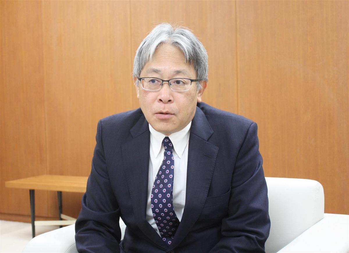 インタビューに答える山口フィナンシャルグループの吉村猛会長兼CEO