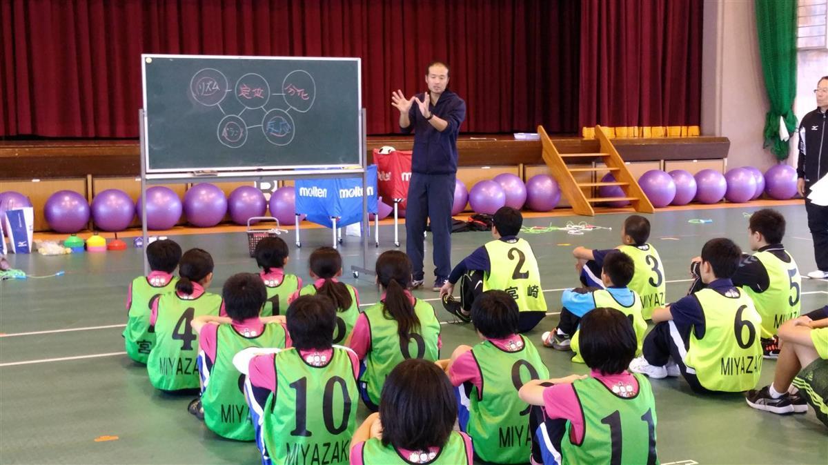 宮崎県でのスポーツタレント発掘・育成プロジェクトの様子(宮崎県スポーツ協会提供)