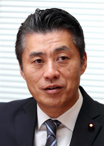 希望の党の細野豪志氏(飯田英男撮影)