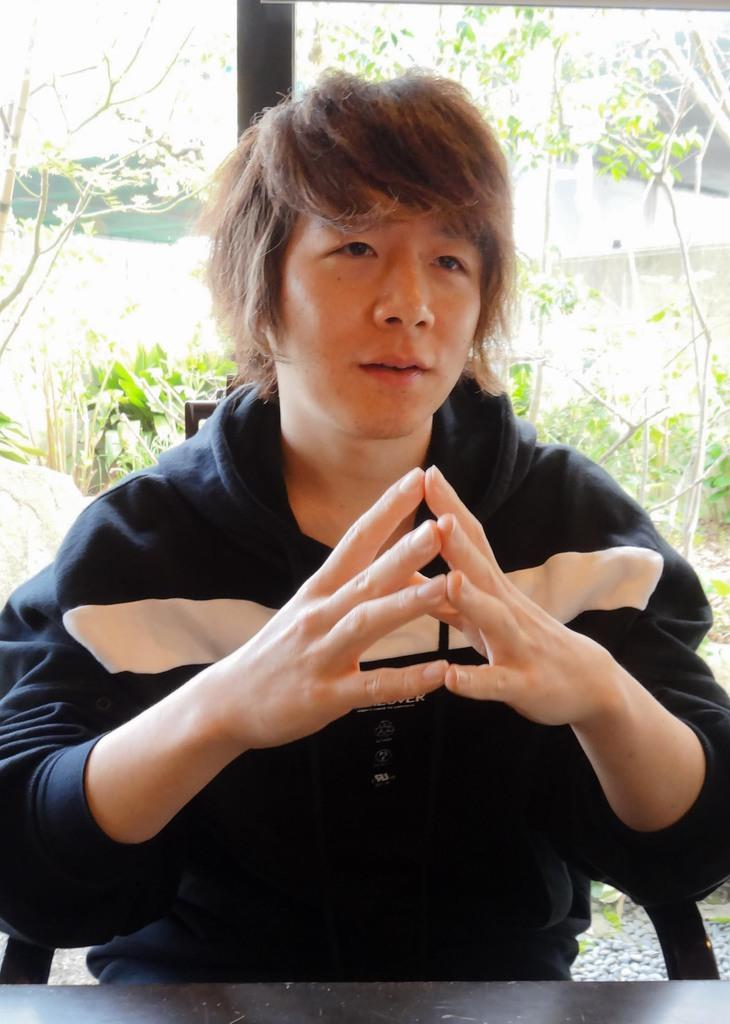 2025年大阪・関西万博への展望を語る佐久間洋司さん=3日午後、大阪府池田市(小川原咲撮影)