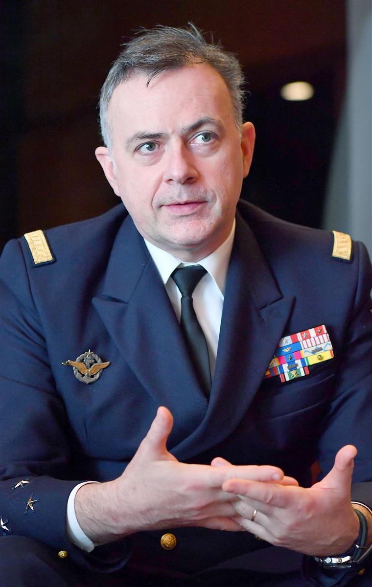 フランス海軍トップのピエール・バンディエ参謀総長(三尾郁恵撮影)