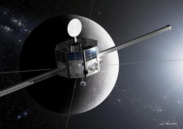 水星磁気圏探査機「MMO」の想像図(池下章裕氏提供)