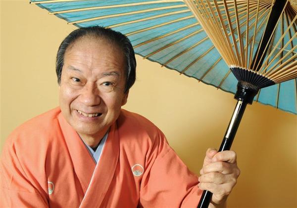 海老一染之助さん=2008年12月、東京都杉並区(大山実撮影)