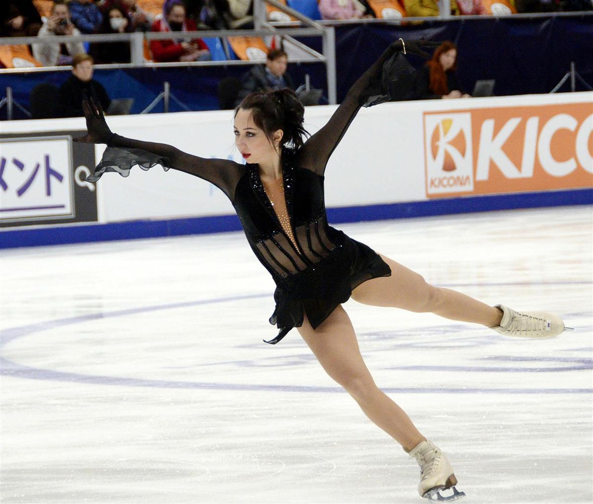 女子で優勝したエリザベータ・トゥクタミシェワのフリーの演技=モスクワ(共同)